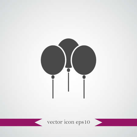 Balloon icon simple party sign vector illustration