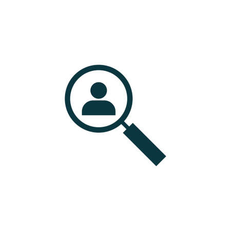 Human resources icon simple magnifier sign vector illustration