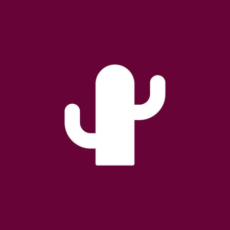 joshua: Cactus icon simple vector illustration