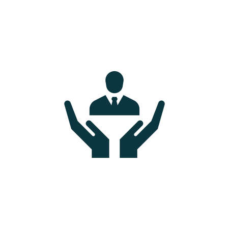 Human resources icon simple businessman sign vector illustration