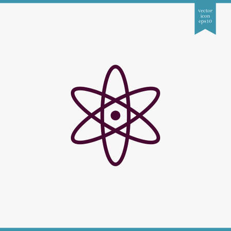 Atom  icon simple cleaning sign vector illustration Illustration