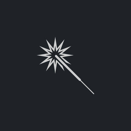 bengal light: Sparkler icon simple party sign vector event illustration