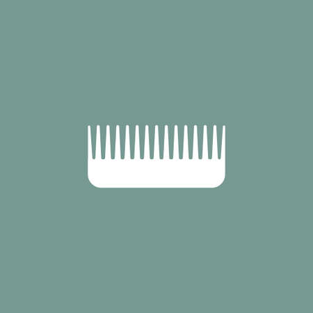 personal grooming: Comb icon simple bardershop sign vector illustration Illustration