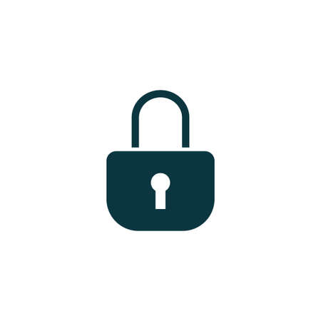 private security: Lock  icon simple vector illustration