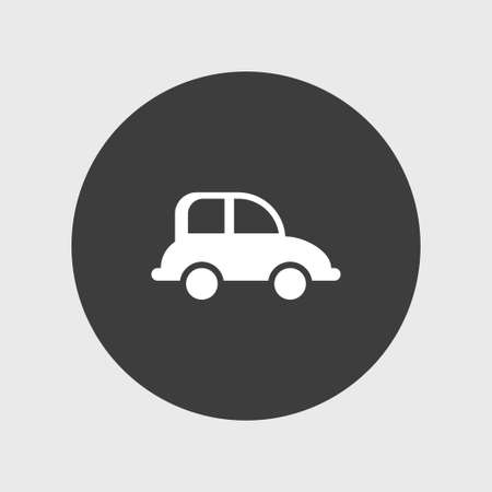 small business: Car transport  icon simple travel sign vector illustration Illustration
