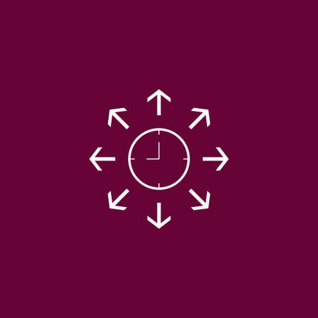 Clock icon time simple arrows sign vector illustration