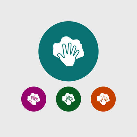 Hand with rag icon simple cleaning sign vector illustration Stok Fotoğraf - 85308628