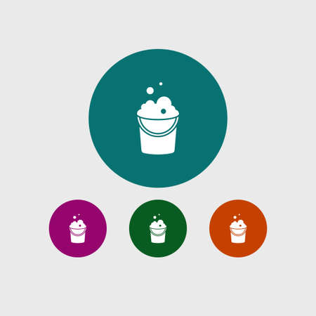 Bucket icon simple cleaning sign vector illustration