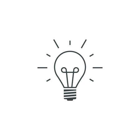 Idea bulb icon simple vector illustration