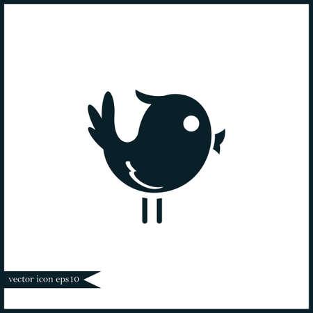 Bird icon simple camping vector illustration sign Illustration