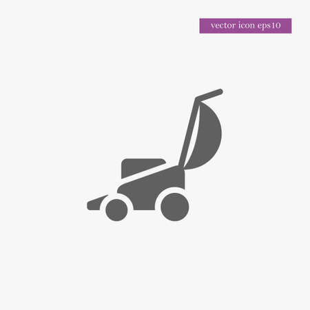 Lawnmower icon simple gardening vector  illustration sign