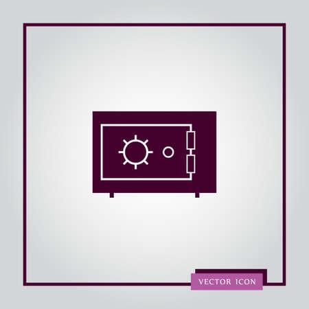 Safe icon simple vector illustration Ilustração