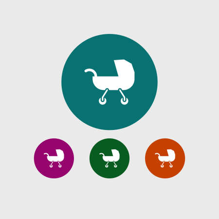 Buggy icon simple child sign vector kid  illustration