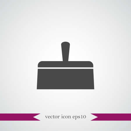 Putty knife icon simple construction sign vector illustration Фото со стока - 94147671