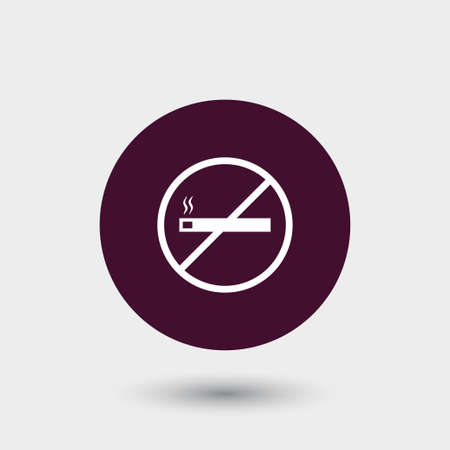 No smoking icon simple ecology vector eco illustration sign