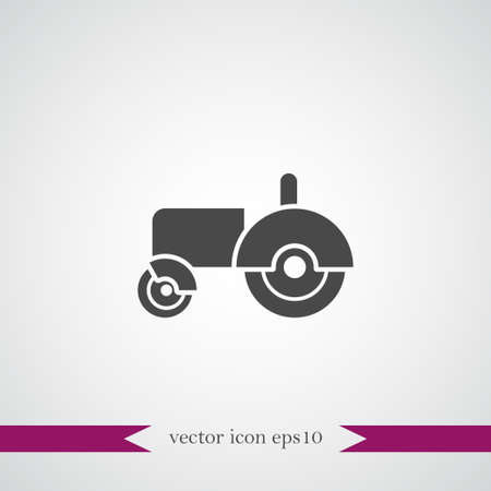 Tractor icon simple gardening vector  illustration sign