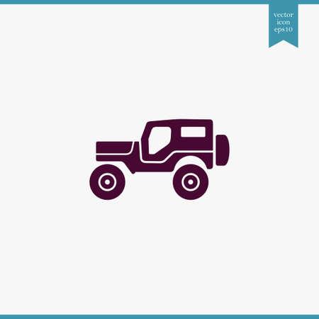 Suv icon simple camping vector car illustration sign Illustration