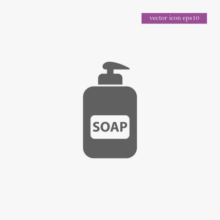 Soap icon simple bardershop sign vector illustration Vettoriali