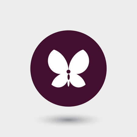 Butterfly icon simple camping vector illustration sign Ilustração