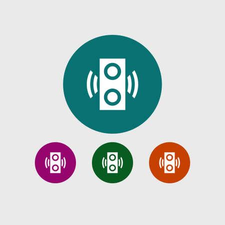 Speaker icon, simple internet vector computer illustration.