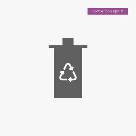 Ecological trash icon, simple ecology sign vector illustration.