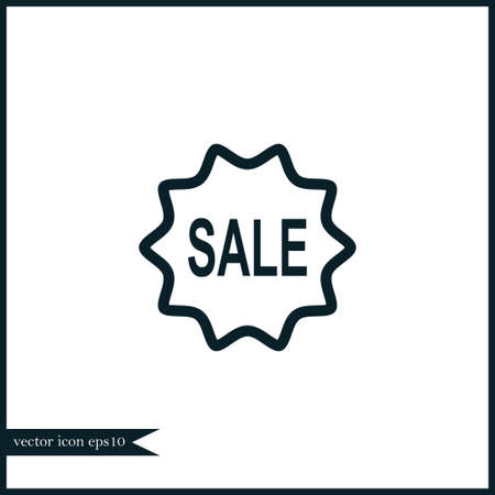 Sale icon simple online shopping vector illustration sign