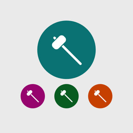 Sledge hammer icon, simple construction sign. Vector illustration. Illustration