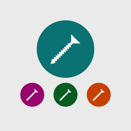 Screw icon, simple construction sign. Vector illustration. Illustration