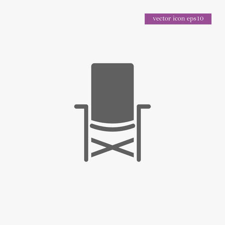 Chair icon simple camping vector illustration sign Illustration