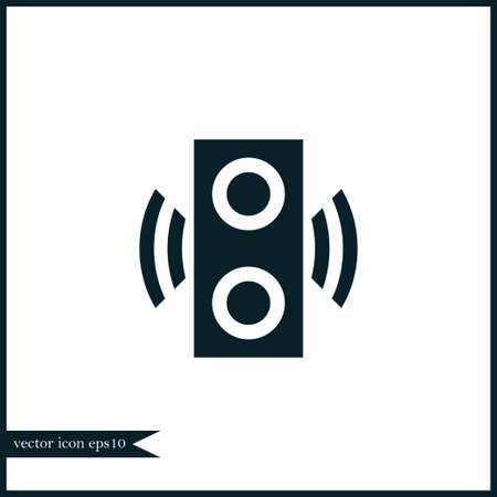 Speaker icon simple internet vector computer illustration