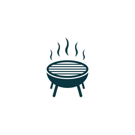 Grill icon simple bbq sign vector cooking illustration Illustration