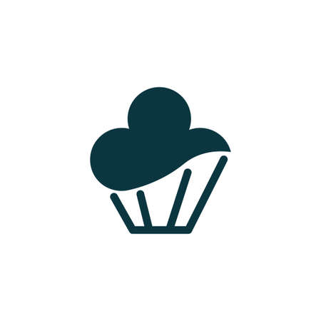 Cupcake icon simple food sign vector bakery illustration