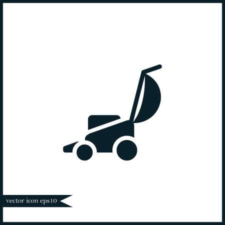Grasmaaier pictogram eenvoudig tuinieren vector illustratie teken