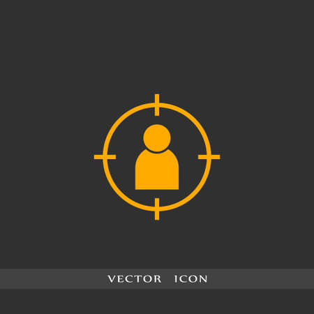 Human icon simple HR vector business illustration sign