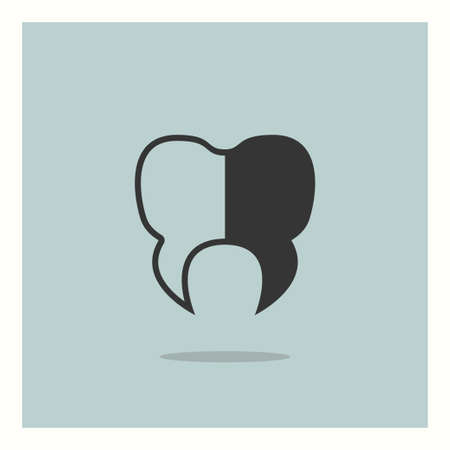 Tooth icon simple medicine vector  illustration sign