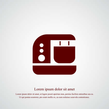 Blender icon simple cooking vector illustration mixer sign