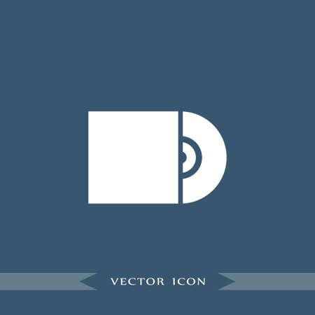 Cd icon simple internet vector computer illustration