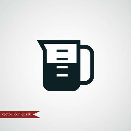 Measuring cup icon simple coocking vector illustration beaker sign