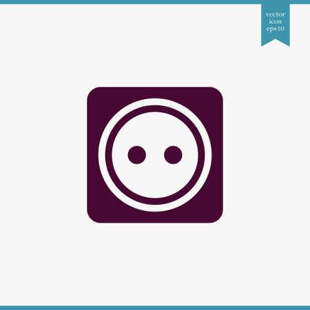 Prise de courant icône simple écologie vecteur eco illustration signe