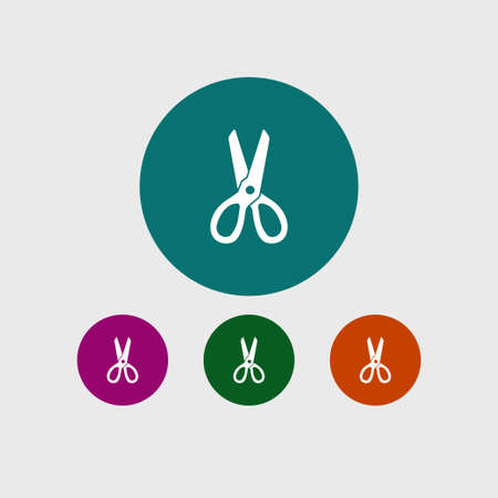 Scissors icon simple bardershop sign vector illustration