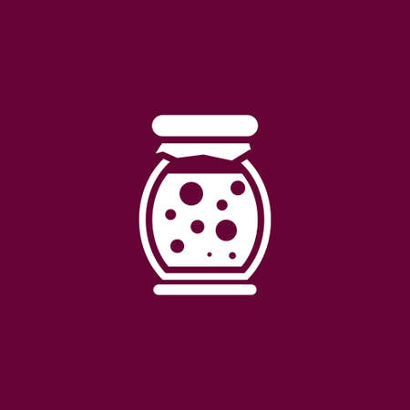 Jam icon simple fruit sign vector food illustration