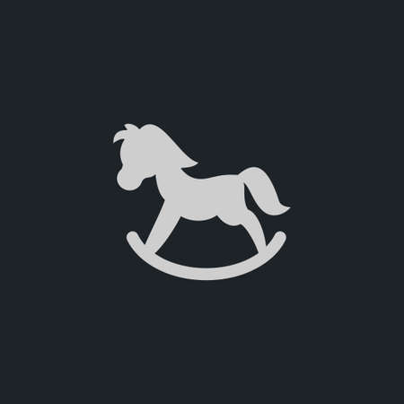 Toy horse icon simple child sign vector kid  illustration
