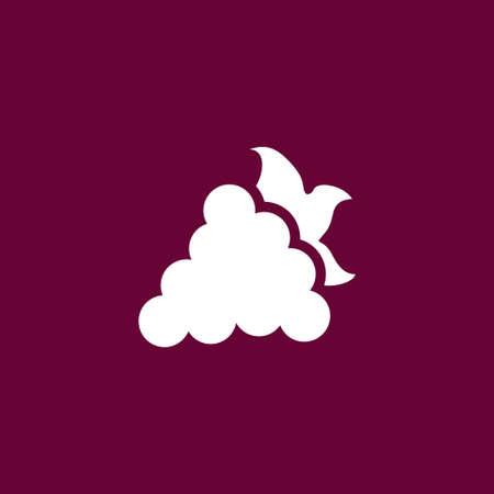 Grape icon simple fruit illustration food vector sign 일러스트