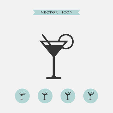 Cocktail pictogram eenvoudige illustratie drankje teken Vector Illustratie