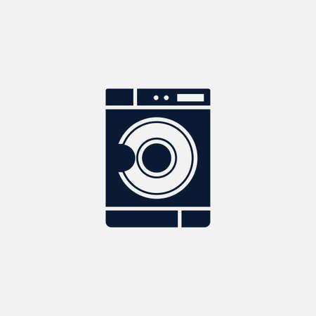 Washing mashine icon simple cleaning sign vector illustration Stock Illustratie