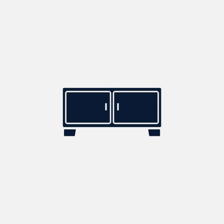 Nightstand icon simple bedside sign vector furniture illustration