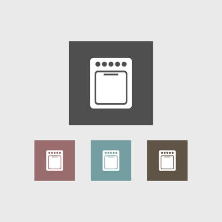 Oven icon simple illustration furniture sign