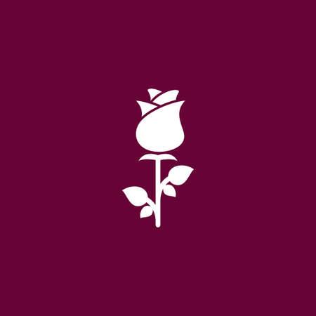 Flower icon simple gardening illustration plant vector sign