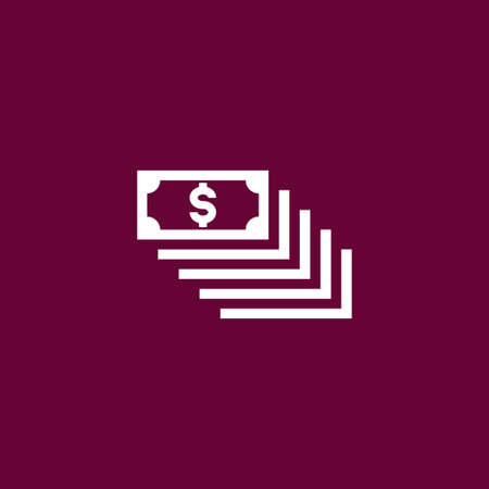 Money icon simple cash sign vector illustration