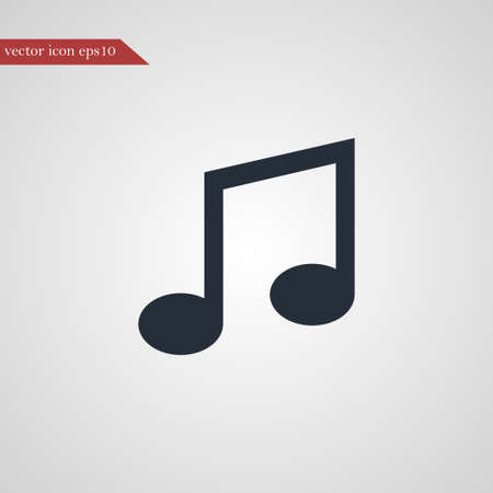 Music note icon simple sign vector illustration
